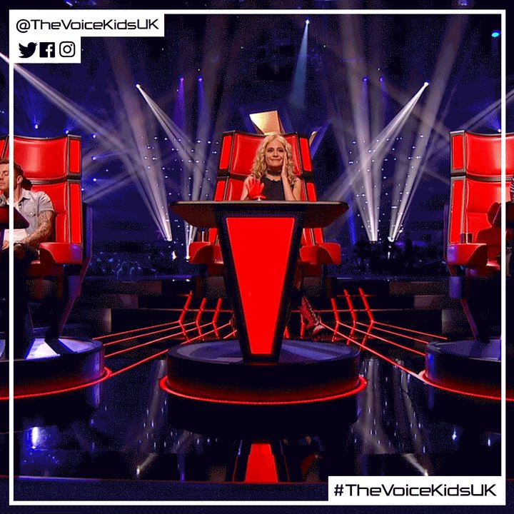 When you realise @PixieLott has turned for you 😄 #TheVoiceKidsUK https...