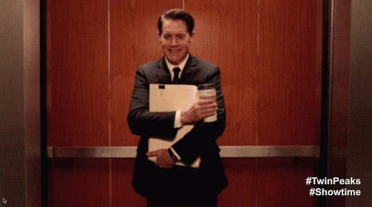Don't get stuck in an elevator. New #TwinPeaks is on tonight. https://...