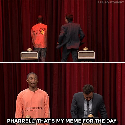 How a @Pharrell Williams meme is born #FallonTonight https://t.co/JFd4...