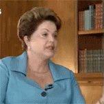 Dilma assistindo ao pronunciamento de #F...
