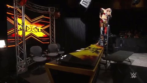 Note to self: Avoid climbing ALL ladders when @WWEAsuka is in the buil...