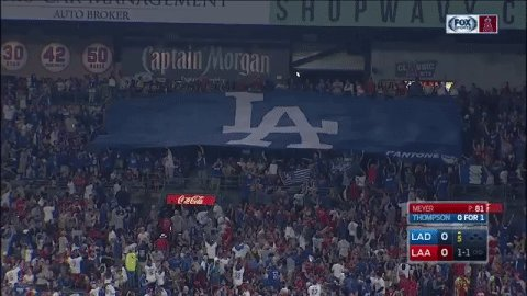 Must have forgotten the lucky banner at home 🙈. @Angels walk off the D...