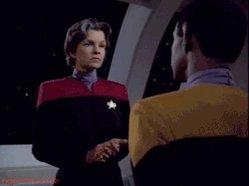 "BillieO2 \""TrekCore: Happy birthday to one-time Captain Janeway, Geneviève Bujold!"