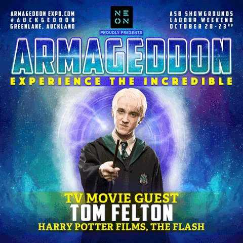 SLYTHERIN UNITE!! @TomFelton is coming to #AUCKGEDDON 2017!! Tickets on sale 9am August 1st! #TOMFELTON https://t.co/VreTjT4iND