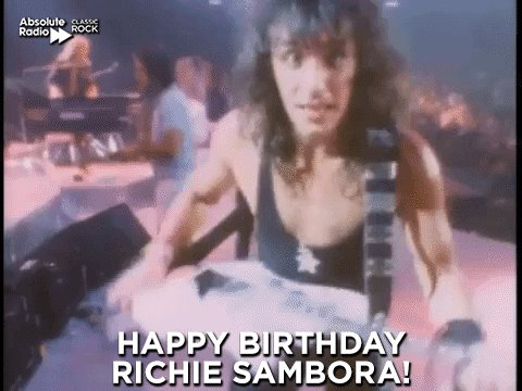 Happy birthday to Richie Sambora! Have a nice day!