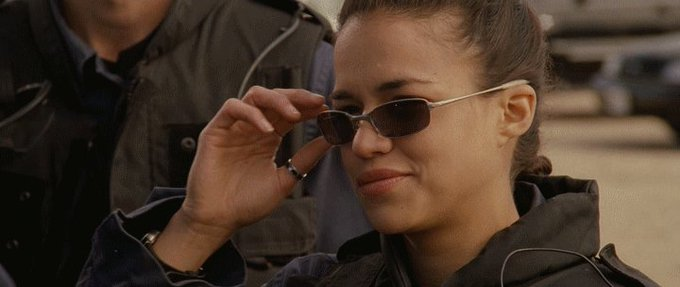 Happy Birthday to incredible Michelle Rodriguez  Here\s Colin and Michelle in S.W.A.T (2003)