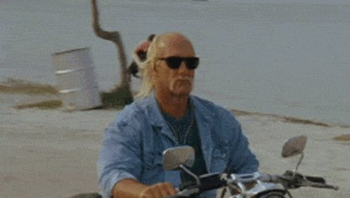 RT @Super70sSports: Hulk Hogan riding a motorcycle while some guy just chucks a dog into the river. https://t.co/4QNwzAqJvH