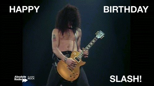 Happy birthday to riff-master and solo machine,