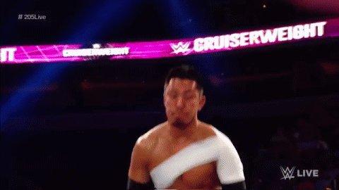 Tonight just isn't the night to mess with @TozawaAkira! #RAW #205Live...