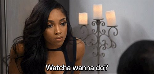 When your girl says this to you... you better RUN! #LHHH @4everBrooke...
