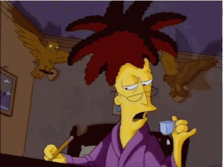 Some people work as a bartender. Sideshow Bob works as a Bart Ender!