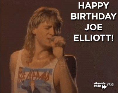 Happy birthday to frontman Joe Elliott! Let\s get rocked!