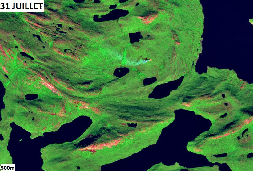 #Wildfire évolution in #Greenland
