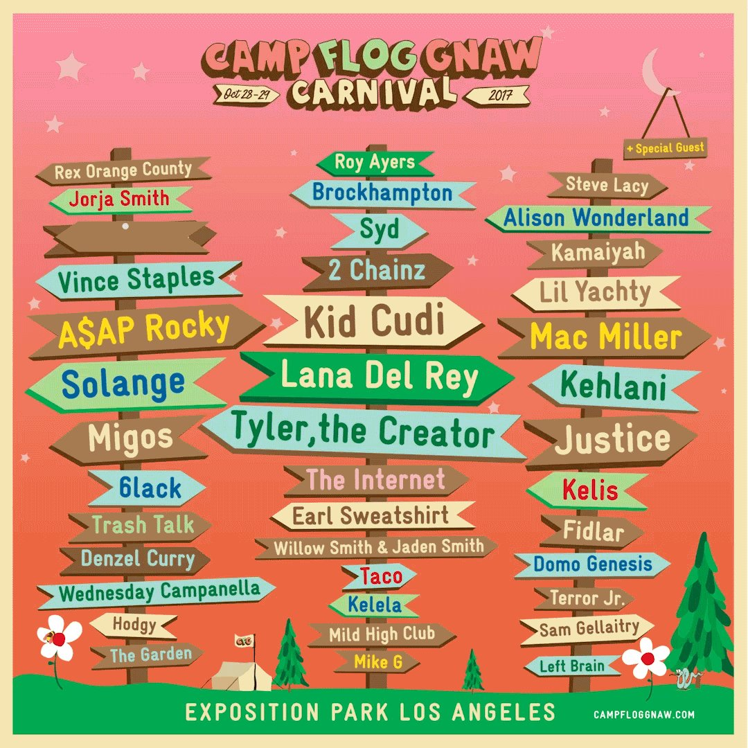 Los Angeles. Looking forward to playing at @CampFlogGnaw this year!!!! Tickets on sale this Thursday at 12pm PST https://t.co/TOPArs5YAf