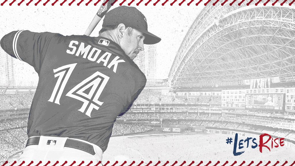 We take the lead! Justin Smoak shows off his power to give us a 5-3 le...