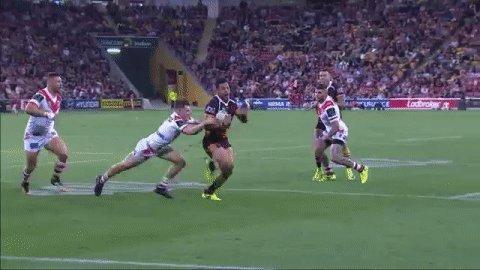 Good last chance defence from Mann!  #NRLBroncosDragons  #NRL https://...