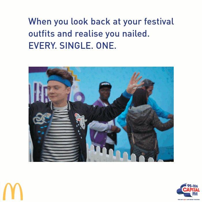 RT @CapitalOfficial: Wardrobe game = 💯 #hellogoodtimes @McDonaldsUK https://t.co/FiRUElZ7gI