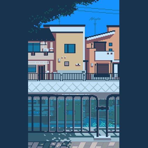 疎水。 #pixelart #ドット絵