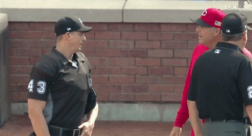 'God Bless America' stops Reds manager and two umpires from arguing