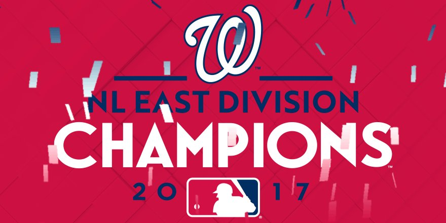 For the 4th time in 6 years, your #Nats are NL East Champs. https://t.co/crFjkuP4zg