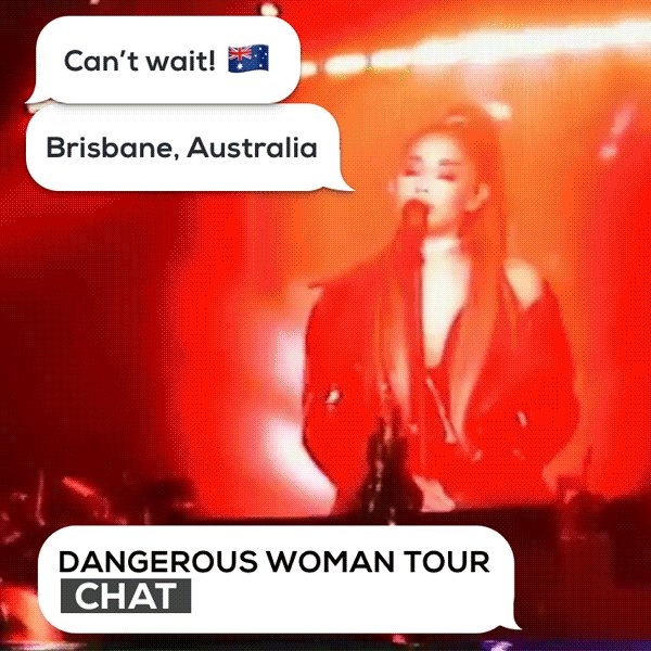 Follow along with @ArianaGrande's #DangerousWomanTour show in Brisbane...