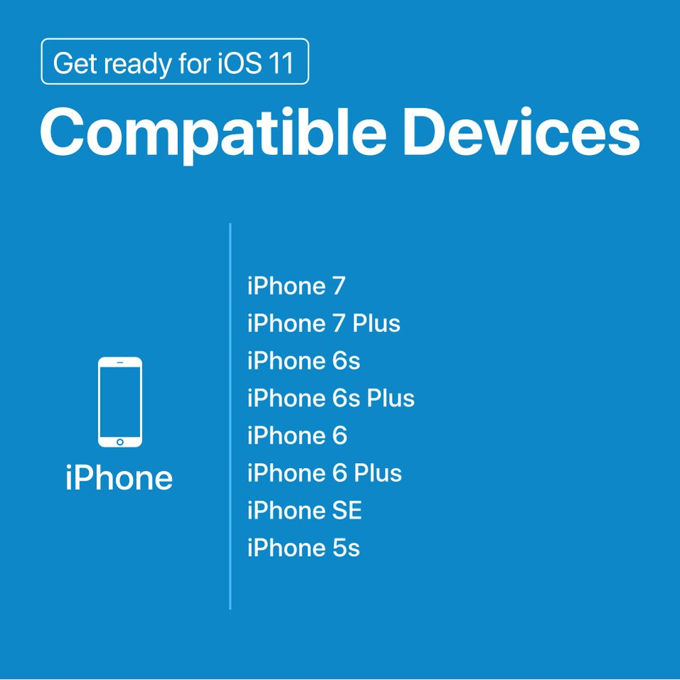 #iOS11 is arriving on September 19  Check here to see if your device is compatible