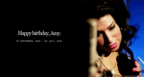 Happy birthday, Amy Winehouse. We miss your music.