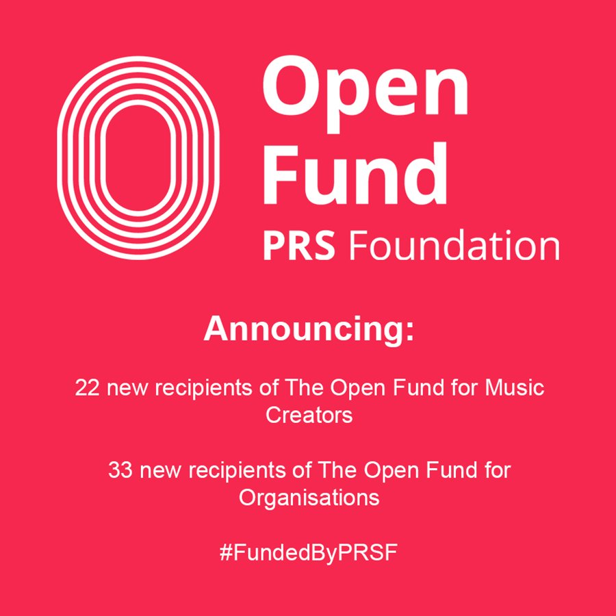 """2015 P S You Are Here Grant Recipients: PRS Foundation On Twitter: """"Announcing 55 New Recipients"""