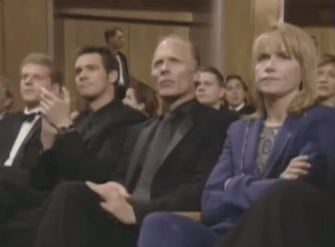 Image result for ed harris and amy madigan refusing to applaud at kazan's oscar 2000