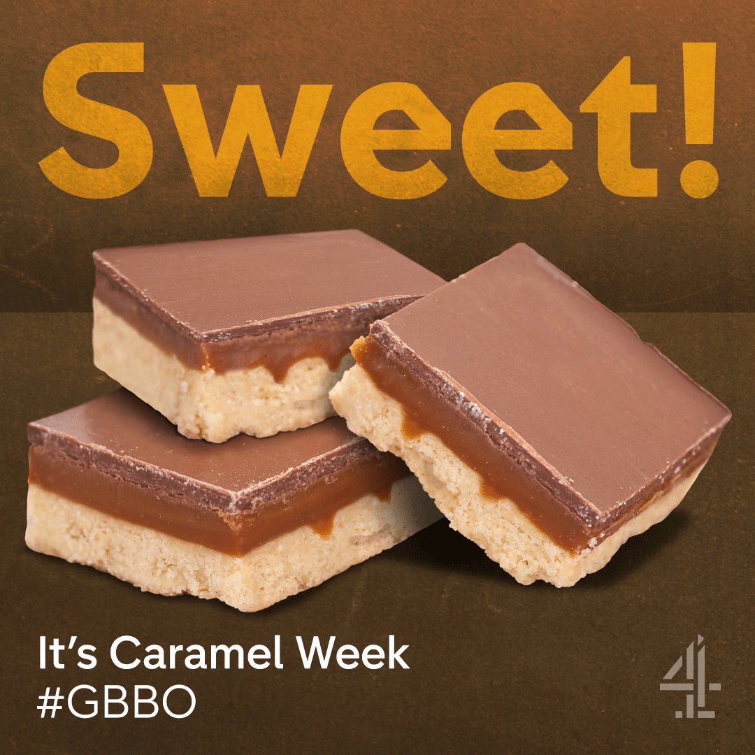 Looking forward to #GBBO tonight at 8pm. It's the first ever #CaramelW...
