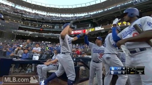 GONE!   Austin Barnes hammers one to the left field bleachers to bring...
