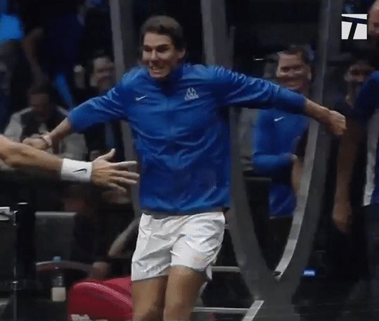 For the Win!  #LaverCup Champions @RogerFederer + @RafaelNadal https://t.co/UlGwGnm0l3