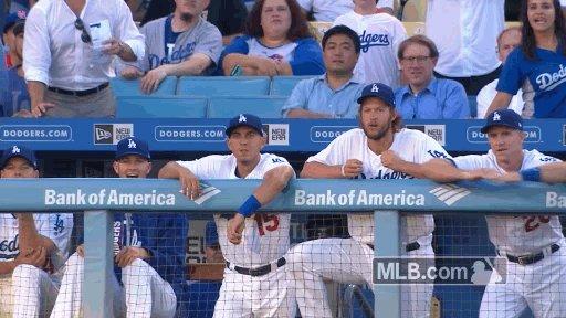 SEE YA! 👋  Austin Barnes hits a 3-run homer in the bottom of the fifth...