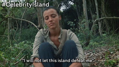 RT @TheIsland: That's the spirit @Lucy_Meck 💪 #CelebrityIsland https://t.co/i0JyBOHNtO
