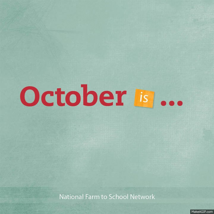 October is National Farm to School Month! Visit https://t.co/CDWfUEjDpb and join the celebrations! #F2SMonth https://t.co/4Gm6psu3WQ
