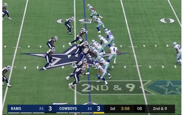 Remember that time Aaron Donald fork-lifted Zack Martin into his QB?  #GOODNESSGRACIOUS https://t.co/BxeI04av9n