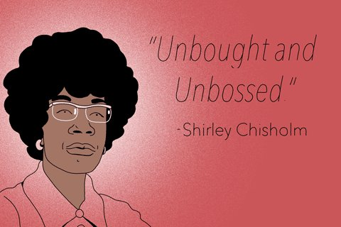 "Be ""Unbought and Unbossed."" #ShirleyChisholm #eMpowerMonday #TheEast #DSTCTT #DST1913"