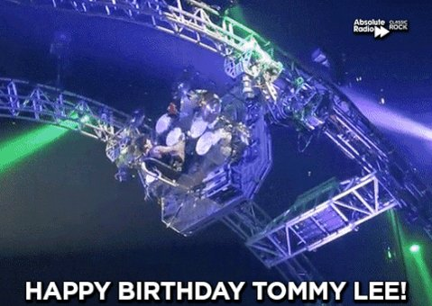 Happy birthday to our favourite rotating drummer, Tommy Lee of Motley Crue!
