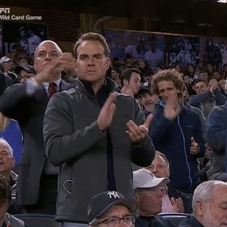 HIGHLY SERIOUS YANKEE FAN HAS TROUBLE CLAPPING THEN RESUMES DOT GIF. https://t.co/ot0qB8w4rG
