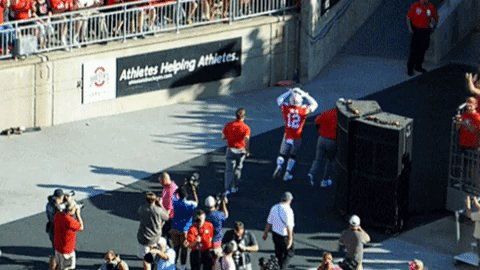 "Here, by the way, is Denzel Ward giving the ""O-H..."" as he leaves the game. https://t.co/v13lV9qyTt"