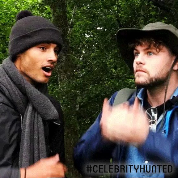 RT @Hunted_HQ: When you realise I'll be coming to find you in ONE HOUR. #CelebrityHunted https://t.co/2FgSBXUm9i