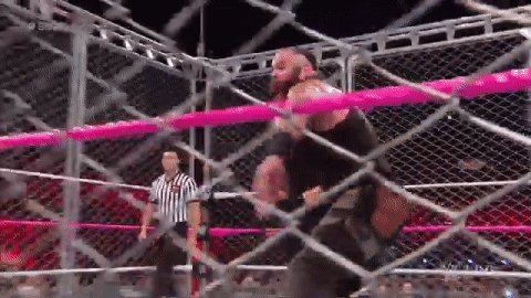 What's it like to be locked inside a #SteelCage with the #MonsterAmong...