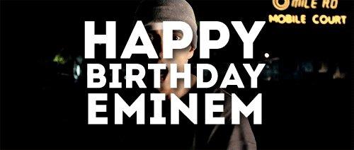 Happy 45th Birthday to my favourite artist, Eminem!