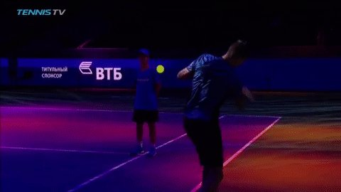 Spot of shadow tennis in between sets fo...