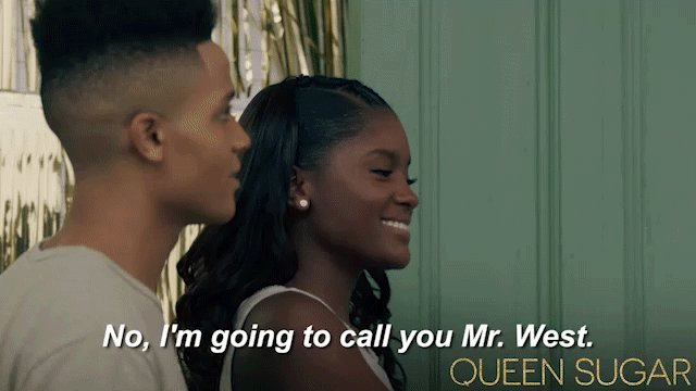 This is what you call manners, folks! #QUEENSUGAR https://t.co/kQdqwe7...