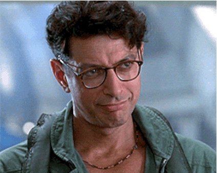 Happy birthday Jeff Goldblum! I\d return to Isla Sorna and face the T-Rex, but only for you.