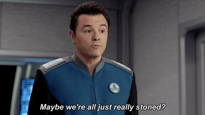 Excellent theory, Ed. 🙈 #TheOrville http...