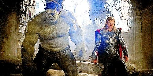 Thor: Hey, buddy, I heard it\s your birth... Hulk: *bam* Happy birthday to Mark Ruffalo.