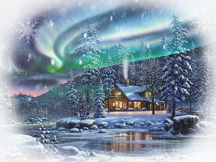Зима картинка гиф