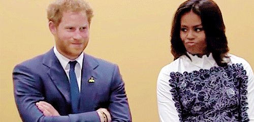 Also all praise on a Monday to Michelle Obama. Who else sees how this Meghan Markle engagement REALLY went down... Harry: Mrs. Obama, do you think I should marry a black woman? Michelle: